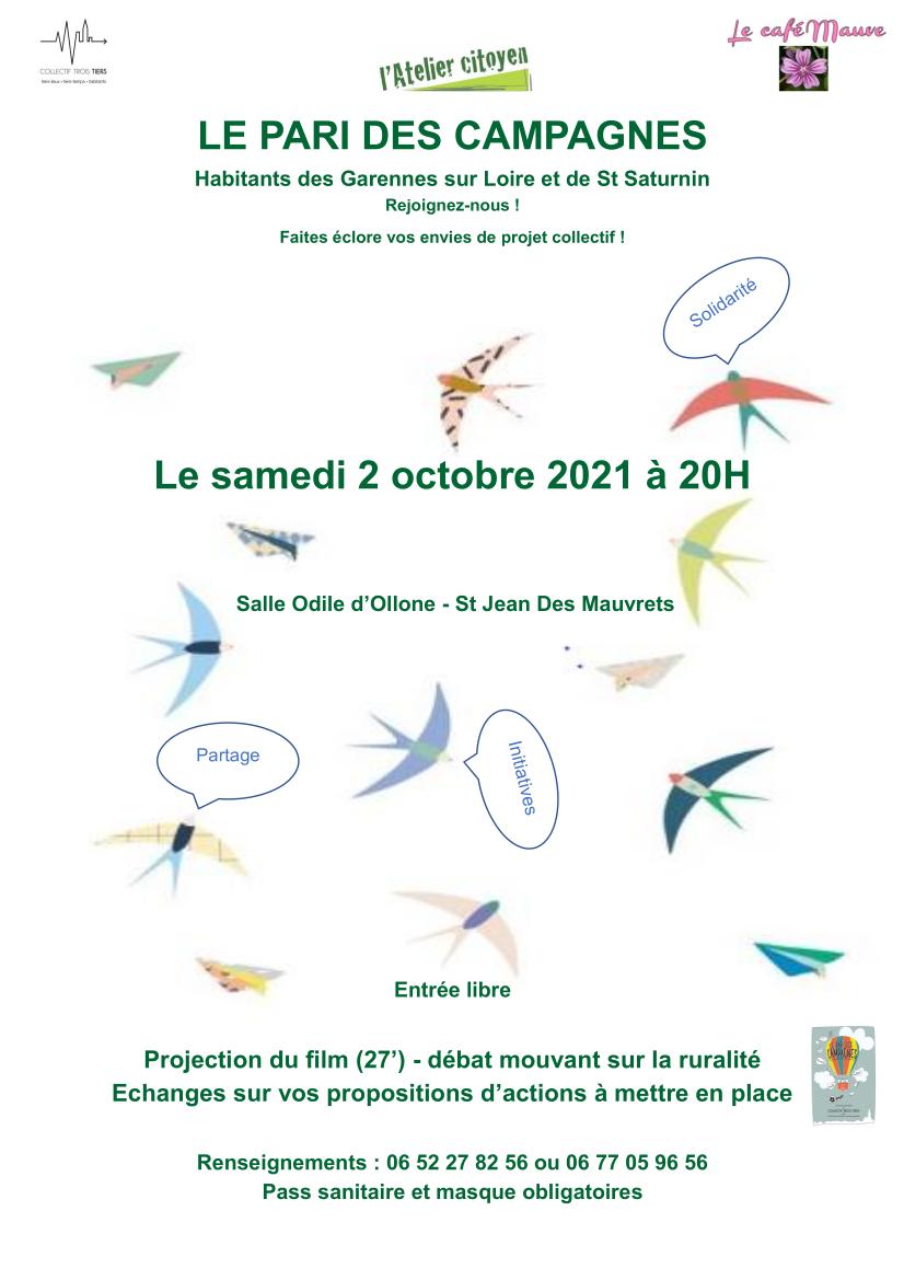 LE PARI DES CAMPAGNES samedi 2 octobre 2021 20H