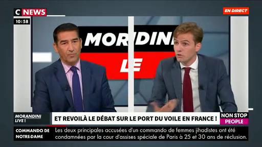 """Voile, boucherie halal, prénoms, religion, attentats: Le débat s'enflamme dans """"Morandini Live"""" entre les invités"""