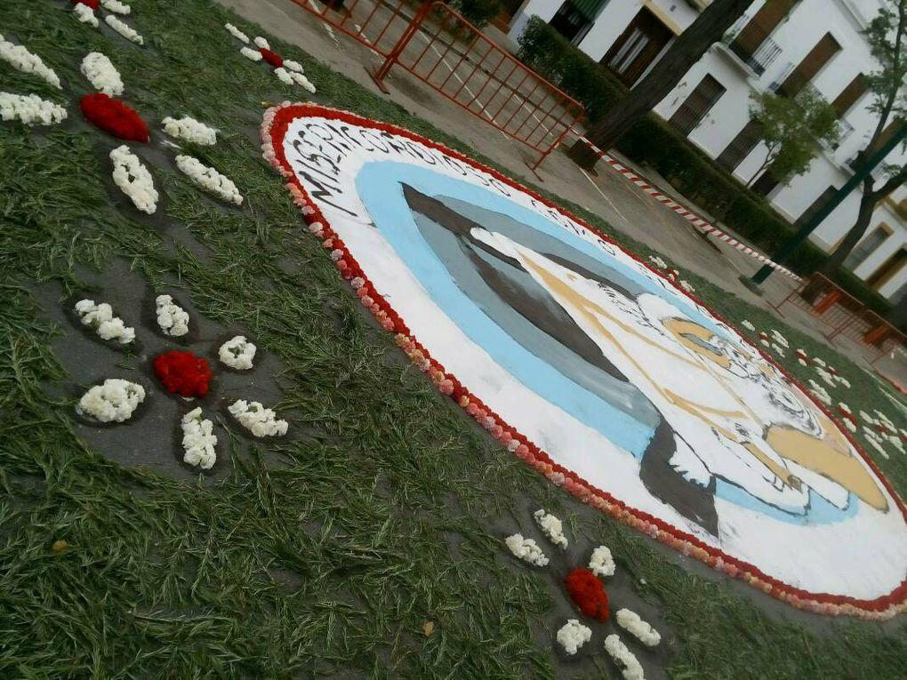 À Zafra le chemin de fleurs.
