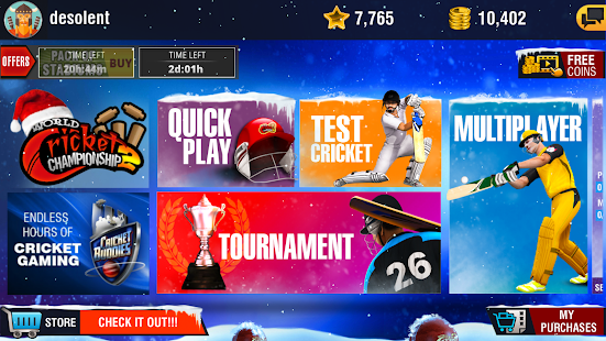World Cricket Championship 2 2.8.8.5 Apk + Mod (Money Unlock) + Data Free Download