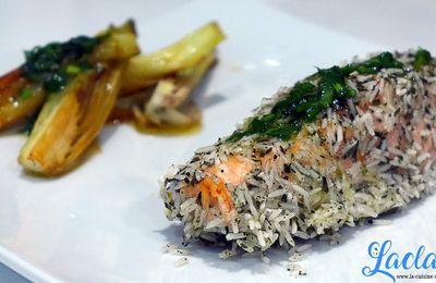 Saumon en Croûte de Riz au Thé, Légumes à l'Orange ! (JLCTC20 #3)