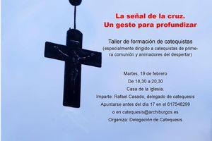 Taller de formación de catequistas: la señal de la cruz