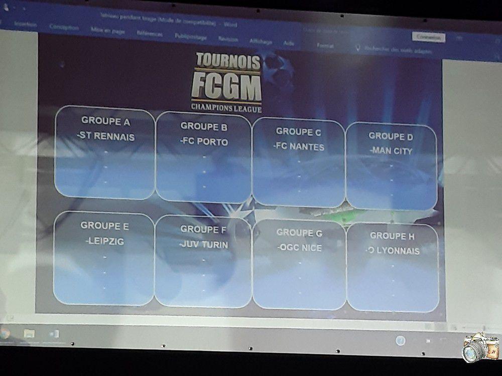 Tirage au sort FCGM CHAMPIONS LEAGUE 24, 25 & 26 Mai 2019 11e édition