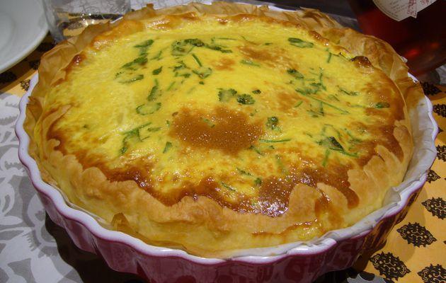 Tarte au lait de coco, curry et coriandre