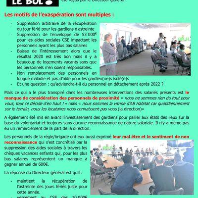 AB Habitat - RAS LE BOL : les personnels s'invitent au siège !