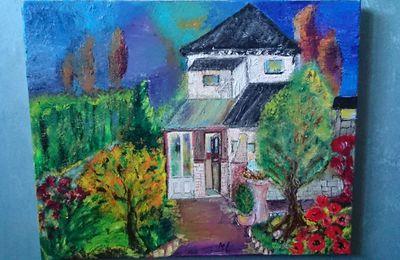 La maison du Biez.  Huile 50X40