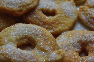 Beignets de pommes à l'huile d'olive