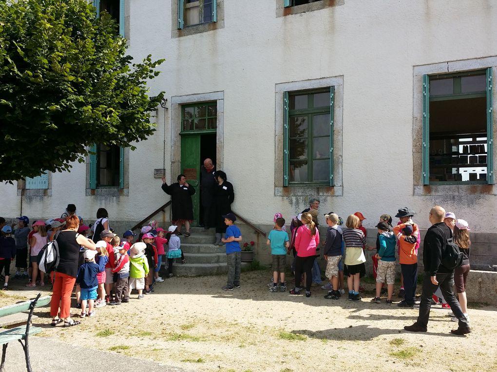 Ecole 1900 à St-Martin des Olmes, pique nique au plan d'eau d'Ambert, Jardin pour la Terre à Arlanc.