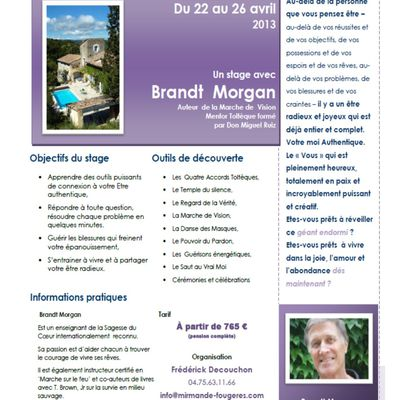 Stage avec Brandt Morgan - Avril 2013