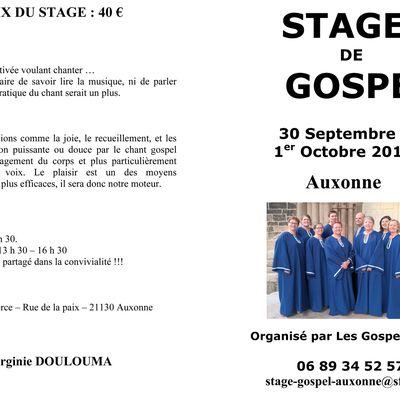 Stage Gospel à Auxonne
