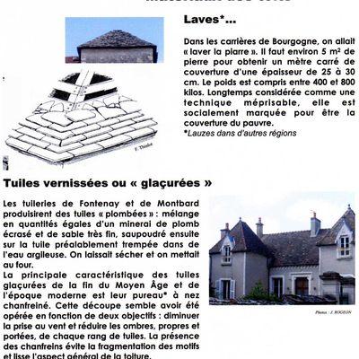 Patrimoine en hauteur : Matériaux des toits : Laves et tuiles vernissées.