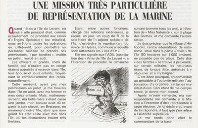 Une mission très particulière...Miss Ile, dans les années 60