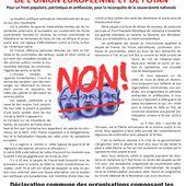 2 - Tract d'appel à la manif nationale du 30 mai 2015 pour la sortie de l'euro, UE et l'OTAN - Réveil Communiste
