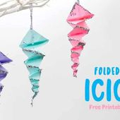 Folded Paper Icicles
