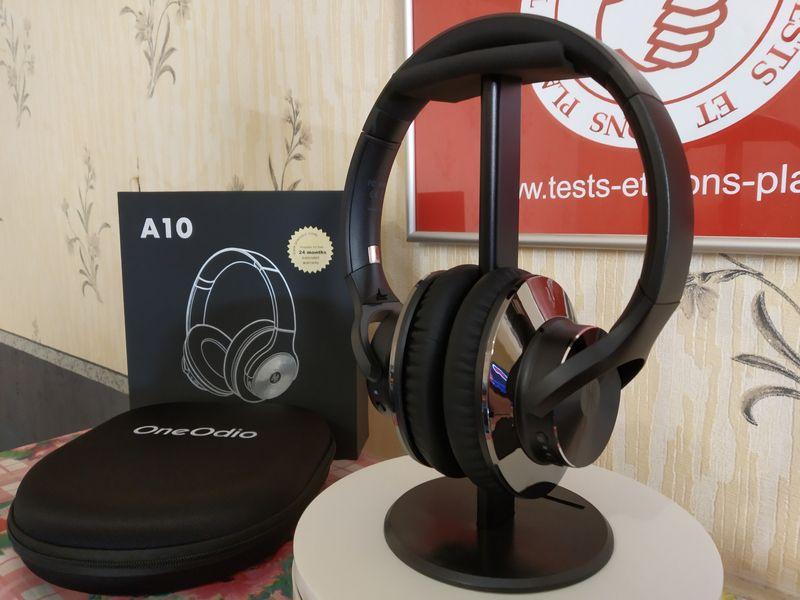 Test et avis du casque Bluetooth 5.0 à réduction active des bruits ANC - OneOdio A10 @ Tests et Bons Plans