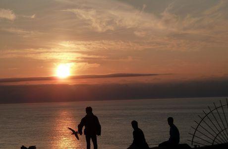 Bretagne : coucher de soleil sur le Cap Fréhel