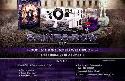 [BON PLAN] SAINTS ROW 4 - Super Dangerous Wub Wub Edition à 69,99€ au lieu de 99,99€