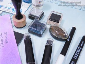 Présentation - Avis - Test - Encreurs - Encres - Tampons - Distress Oxide - Florilège Design - Floricolor - Ranger - Versamark - Aladine - Colorbox - Embossage