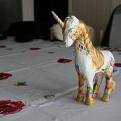 Licorne en carton, fini. - crea.vlgomez.photographe et bricoleuse touche à tout.over-blog.com