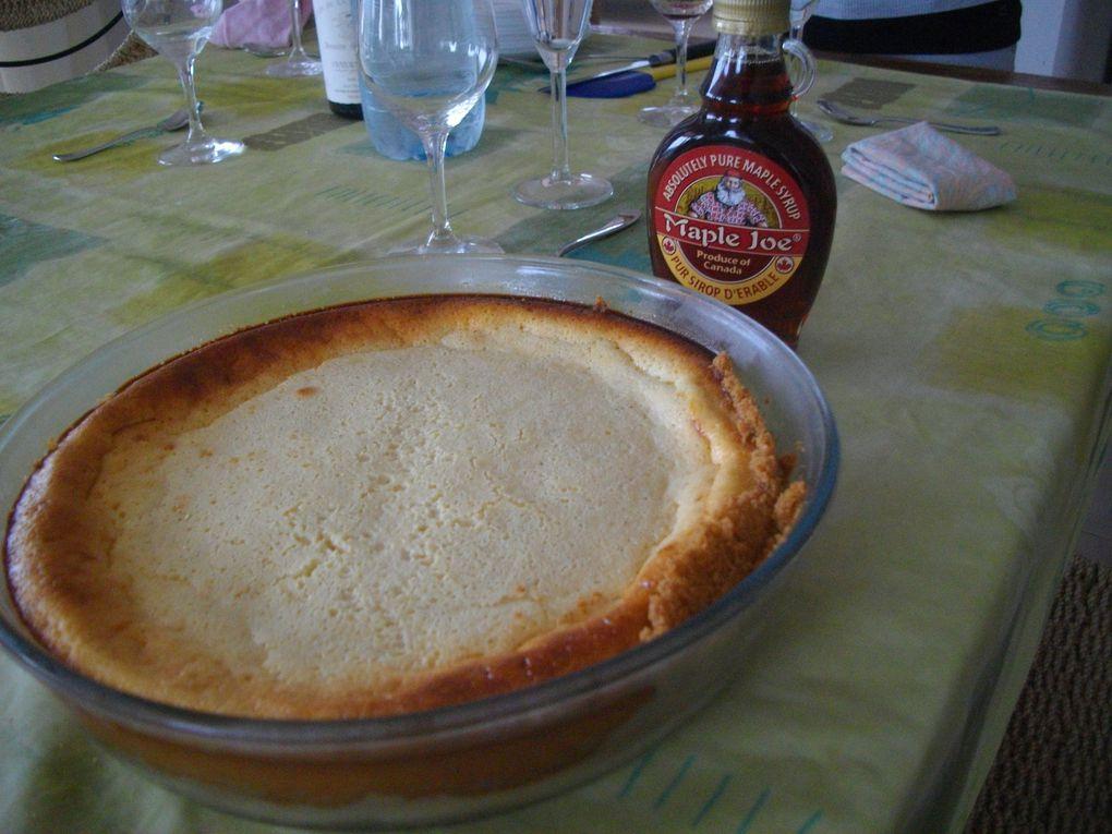 Repas du dimanche midi: canapés, rôti de porc et gratin de courges spaghettis, cheese-cake