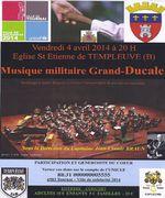 Musique militaire Grand-Ducale : 4/4/14 à Templeuve