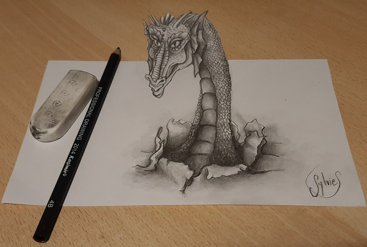 Dragon, Elfe et Ange Anamorphiques