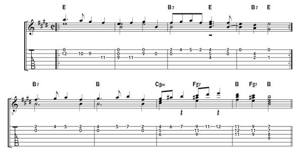 Dereck the Halls huit mesures E