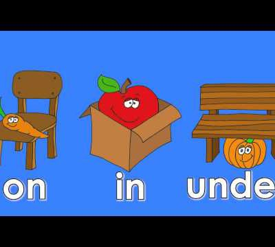 Prepositions: on, in, under