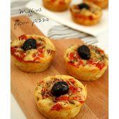 Muffins façon pizza - Amandine Cooking