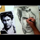 How I drew Chris Hemsworth in 1 hour