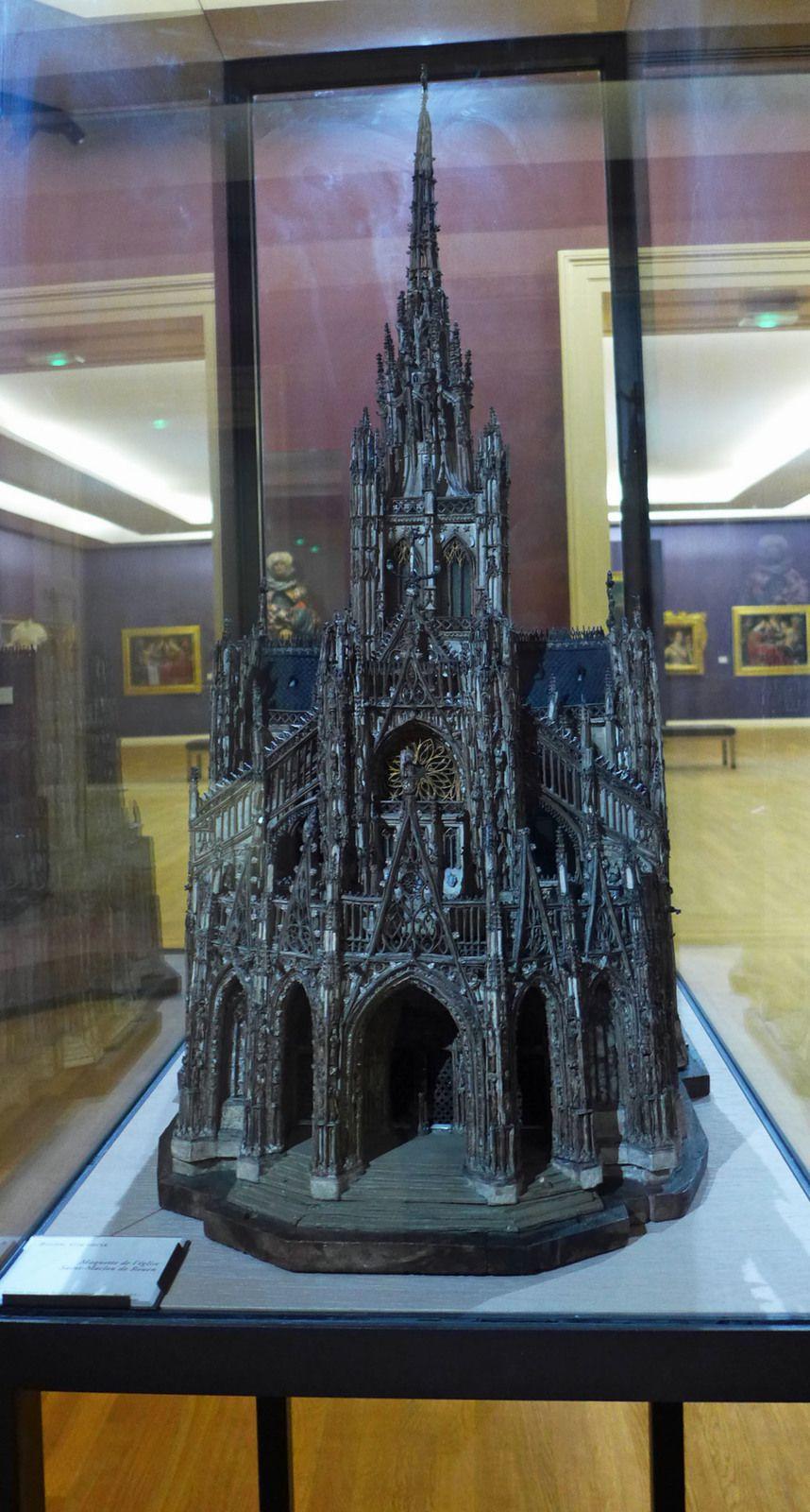 Rouen, XVIe siècle, maquette de l'église Saint-Maclou de Rouen.