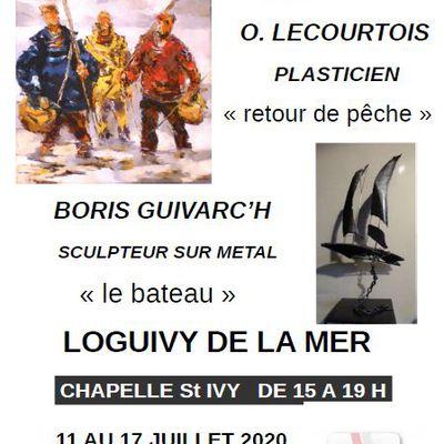 Exposition Loguivy de la mer Guivarc'h Lecourtois  11 au 17 juillet 2020