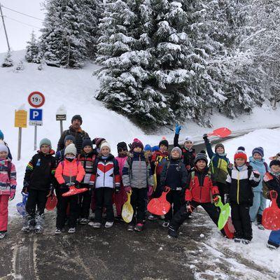 Premières neiges à Praz