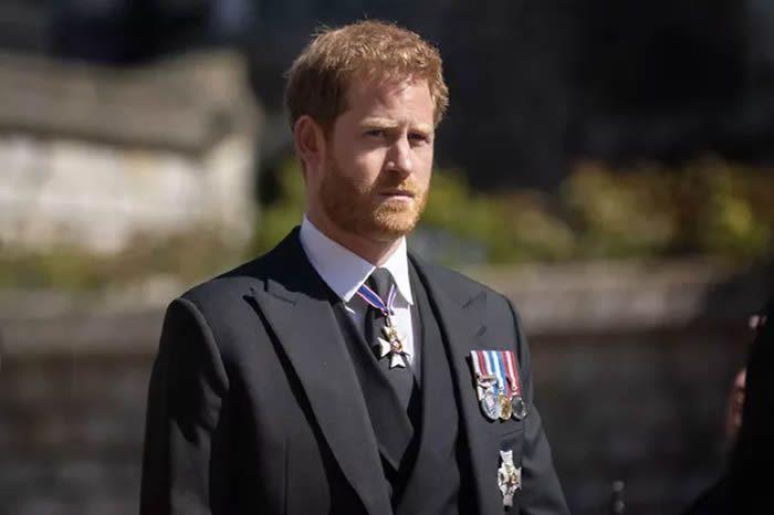 Le prince Harry aux funérailles du prince Philip à Windsor le 17 avril 2021 Agence/Bestimage