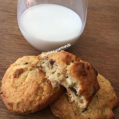 Cookies à la banane et aux chunk 3 chocolats