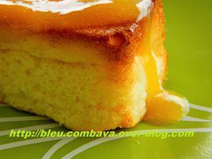 Gâteau au Fromage Blanc, Citron, Fleur d'Oranger et Coulis de Clémentines Vanillé