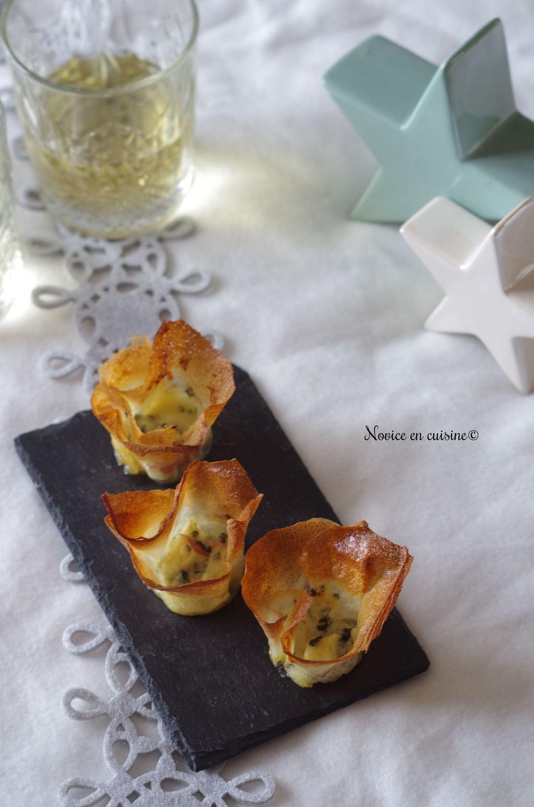 Corolles roquefort/miel/pommes