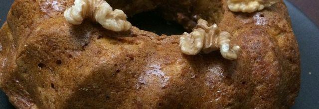 Gâteau au potimarron, noix et gingembre