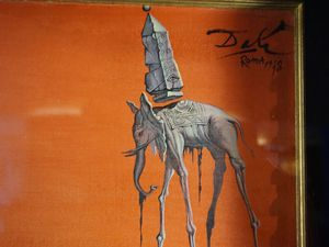 Les éléphants (1948)  de Salvador Dali