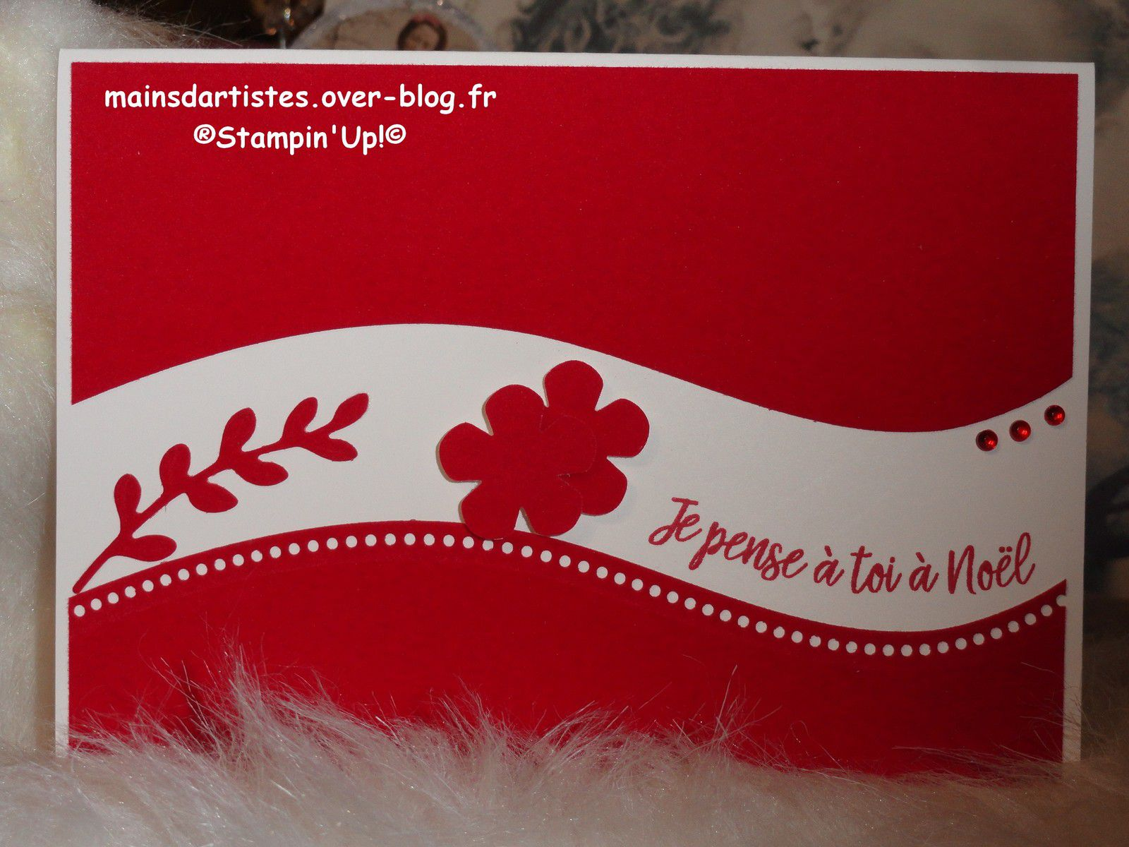 FEUILLES DE VELOURS ROUGES,STAMPIN'UP!.