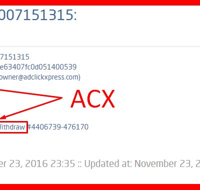 ADCLICKXPRESS-WITHDRAWAL PROOF, ACX THE BEST !!!