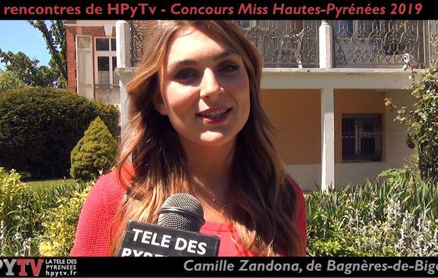 Les Rencontres de HPyTv : Camille Zandona, candidate Miss Hautes-Pyrénées (Mai 2019)