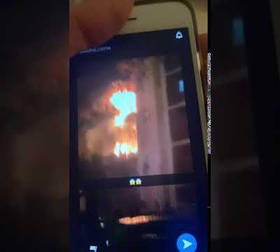 Vidéo. Les gigantesques flammes de l'incendie aux 3000 à Aulnay-sous-Bois ce 24 octobre 2020