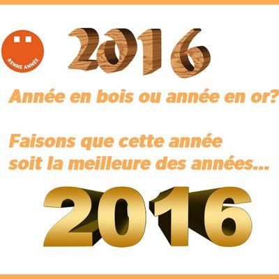 Tous nos vœux 2016.