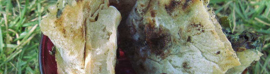 gözleme épinards-oignons- tofu
