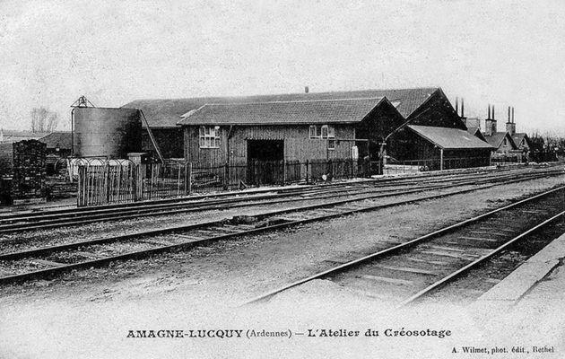 Gare ferroviaire d'Amagne Lucquy : son dépôt , ses ateliers etc....