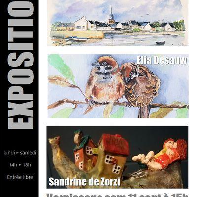 Odil Codron-Elia Desauw-Sandrine de Zorzi exposent en septembre