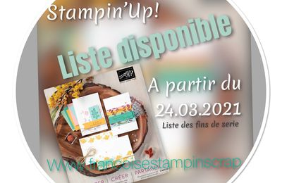 Promotion des fins de série du catalogue annuel 2020-2021 Stampin'Up!