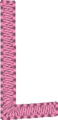 Alphabet rose angélique: la lettre L