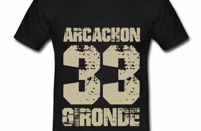 T shirt Aquitaine noir homme Arcachon 33 Gironde
